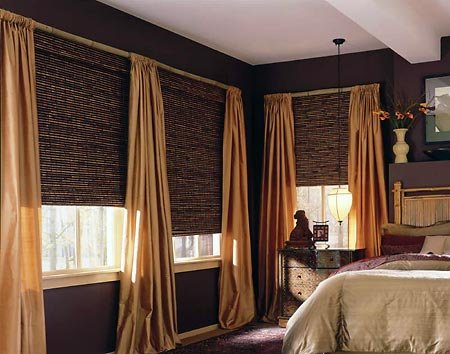Fountain Hills Natural Woven Wood Shades Window