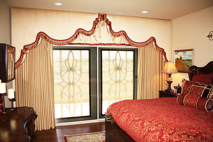Fountain Hills upholstered cornice boards